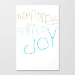 HappinessSmileJoy Canvas Print