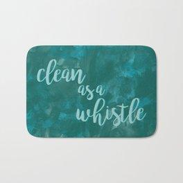 Clean as a Whistle Bath Mat