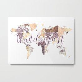Wanderlust Mandala Gold Metal Print