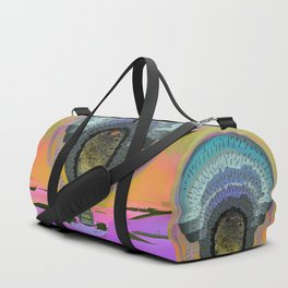 Tree Cactus in Bloom at Dawn Duffle Bag