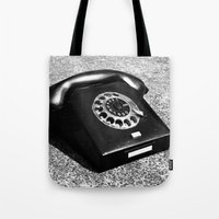 telephone Tote Bags featuring telephone by Falko Follert Art-FF77
