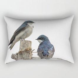 Tree Swallow Times Two Rectangular Pillow