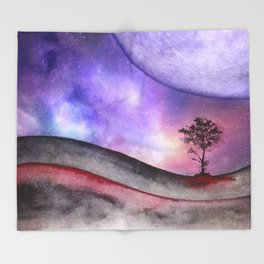 Lone tree 02 Throw Blanket