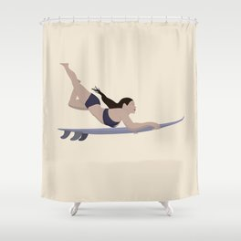 Surfing in the Philippines Shower Curtain