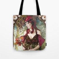 nouveau Tote Bags featuring Nouveau by CreativeByDesign