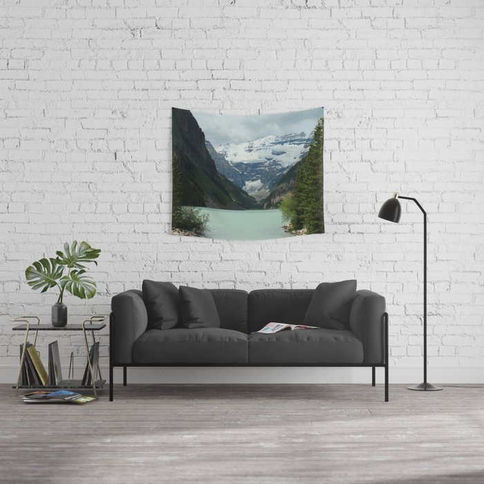 Peaceful Lake Louise Wall Tapestry