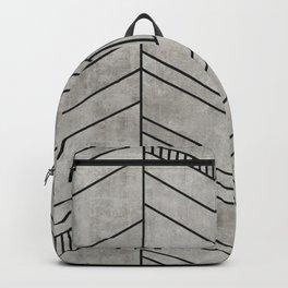 Concrete Chevron Pattern Backpack