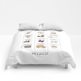 Foods of Gilmore Girls Comforters