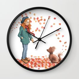 Just a two of us (autumn) Wall Clock