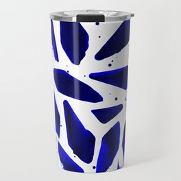 Cobalt Blue Ink Blots Travel Mug