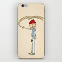 "bright iPhone & iPod Skins featuring ""THIS IS AN ADVENTURE."" - Zissou by Derek Eads"