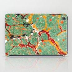 Marbled Green Orange iPad Case