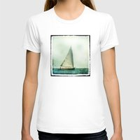 cape cod T-shirts featuring sailing cape cod seas by marie grady palcic