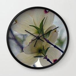 Dogwood Blossoms Wall Clock