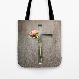 Flower and Rust Tote Bag