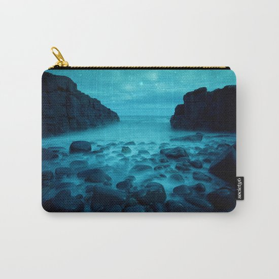 Blue Rocks Ocean and Stars Carry-All Pouch