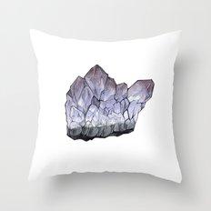 Purple Crystal Throw Pillow