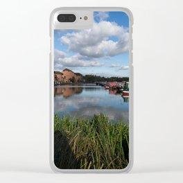Barton Marina Narrow Boats Clear iPhone Case