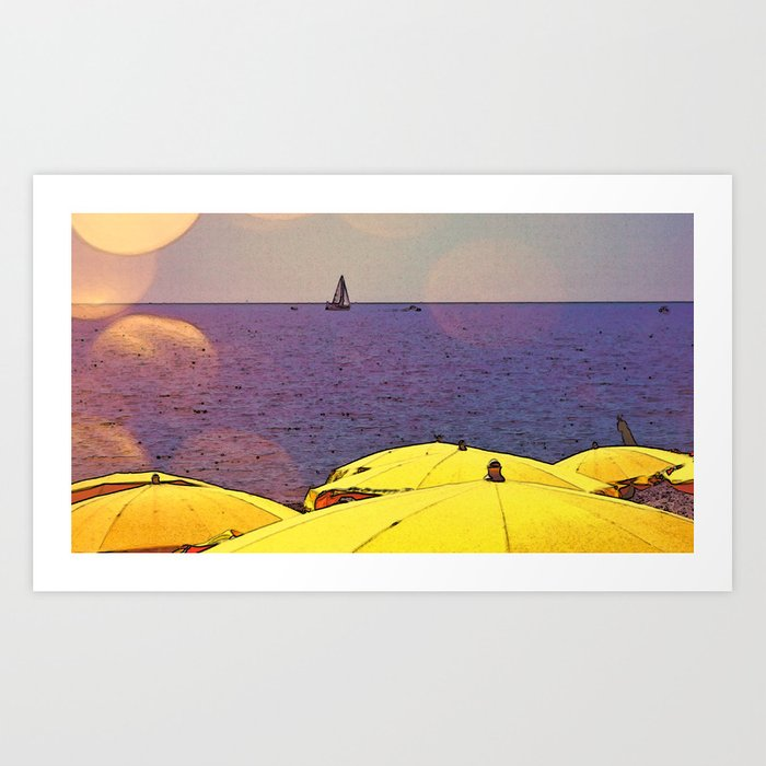 Learning to Sail in France Art Print