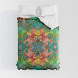Floral Fractal Art G23 Comforters
