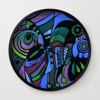 bugs Wall Clocks featuring BUGS by Deyana Deco