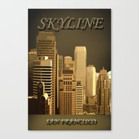 skyline Canvas Prints featuring skyline by Ammar ZABOUN