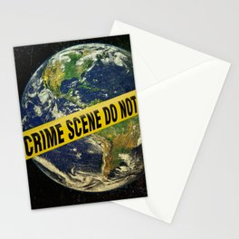 Crime Scene:Earth Stationery Cards