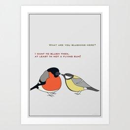 Red and yellow bird Art Print