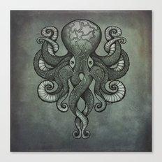 Grey Dectapus Canvas Print