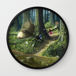 Totoro and Mei Wall Clock