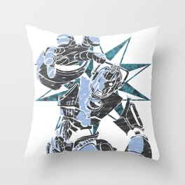 Cyber Graffiti Throw Pillow