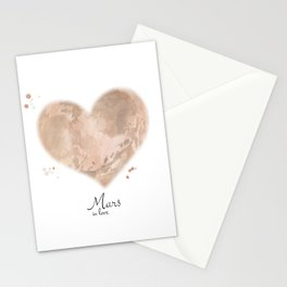 Mars in love Stationery Cards