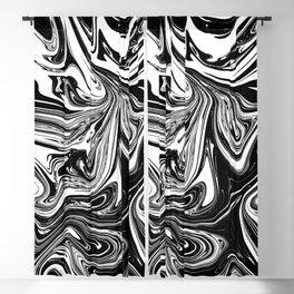 Black & White Marble Swirl Blackout Curtain