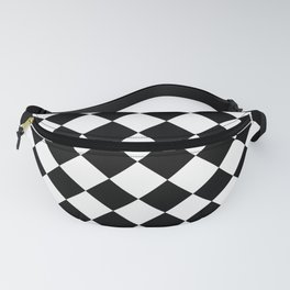 Contemporary Black & White Gingham Pattern - Mix and Match Fanny Pack