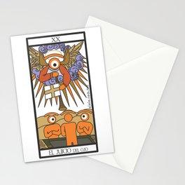 el juicio del ojo Stationery Cards