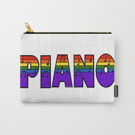 Rainbow Piano Carry-All Pouch