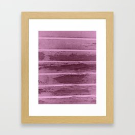 Damaged wooden texture in a pic with gradient in pink, ready for fashion items,furnitures,wallart Framed Art Print
