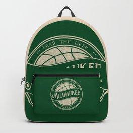 Milwaukee basketball green vintage logo Backpack