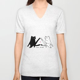 cat yoga Unisex V-Neck