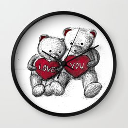 Bear: Valentine's Day Wall Clock