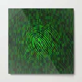 Silhouette of fingerprint Metal Print