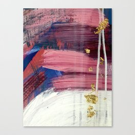 Los Angeles [3]: A vibrant, abstract piece in reds and blues and gold by Alyssa Hamilton Art Canvas Print