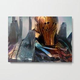 Golden knight Metal Print