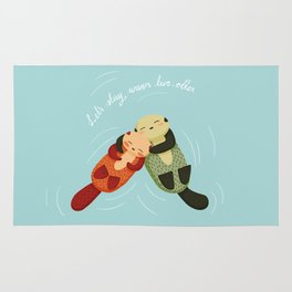 Let's Stay Warm Two-Otter Rug