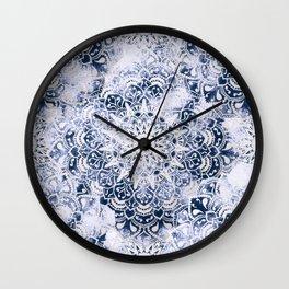 MANDALA WONDERLAND IN BLUE Wall Clock