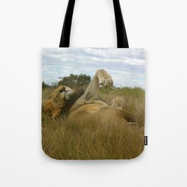 Lazy Lion Tote Bag