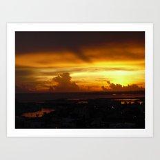 Speaking Sunset Art Print