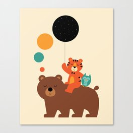 My Little Explorer Canvas Print