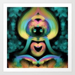 Enlightened Monkey Art Print