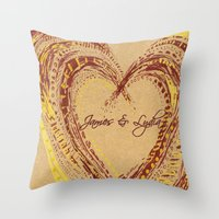 rustic Throw Pillows featuring rustic by L Step
